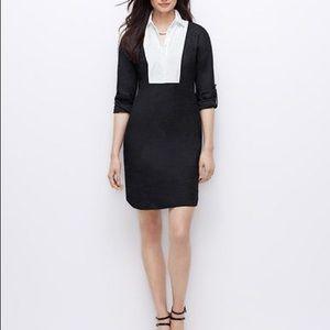 Ann Taylor Tuxedo Design Shirt Dress
